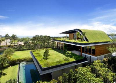 rumah atap rumput - Tips Membuat Rumah Terasa Dingin Walaupun Tanpa AC