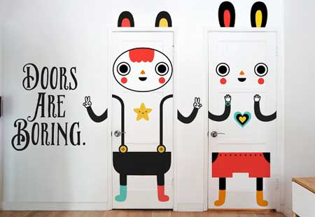 dekorasi pintu kamar unik yang dapat mempercantik rumah kamu