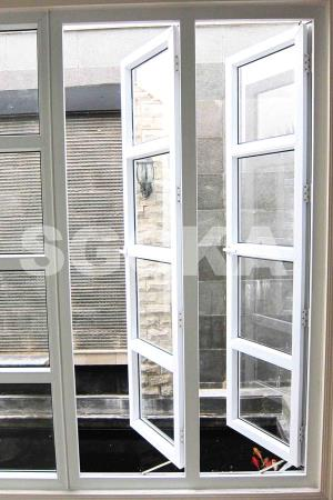 jendela swing french window upvc 1