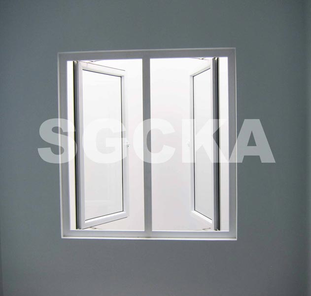 Jendela Casement Double Swing uPVC