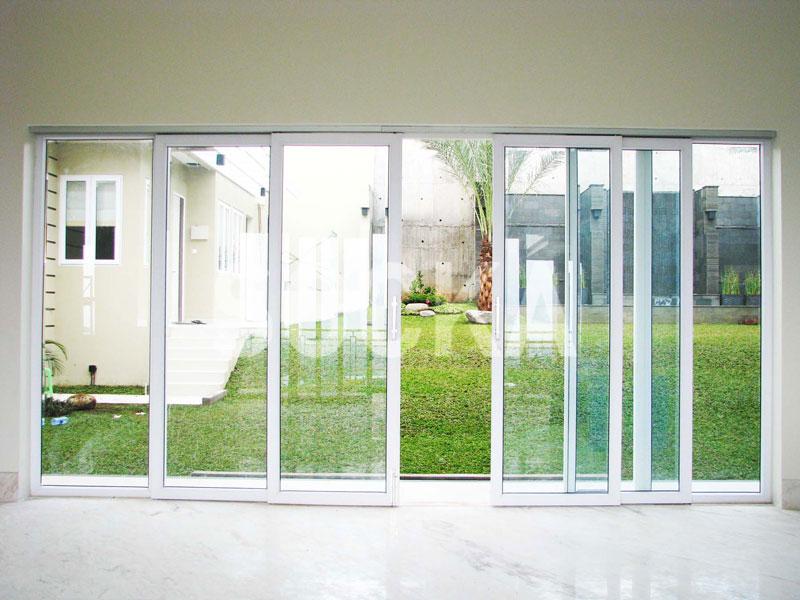jendela mati pintu geser 4 daun upvc